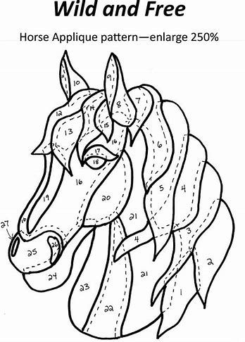 Image Result For Free Printable Horse Quilt Patterns Horse Quilt Free Applique Patterns Applique Quilt Patterns
