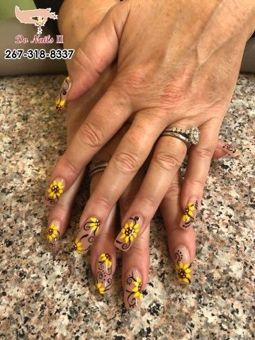 Do Nails Ii Nails Salon 19007 Nails Salon Bristol Pink White Nails Manicure Nail Spa