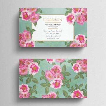 Vintage Floral Business Card Floral Business Cards Card Templates Free Business Card Templates