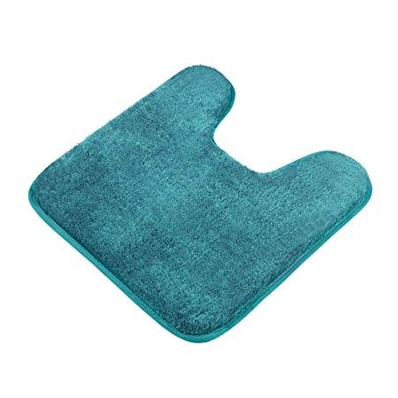 Contour Bath Rug Seavish Microfiber Anti Bacterial U Shaped Toilet Floor Rug Shower Mat Shaggy Non Slip Bathroom Carpet 20x2 Soft Bath Mat Bath Rug Microfiber