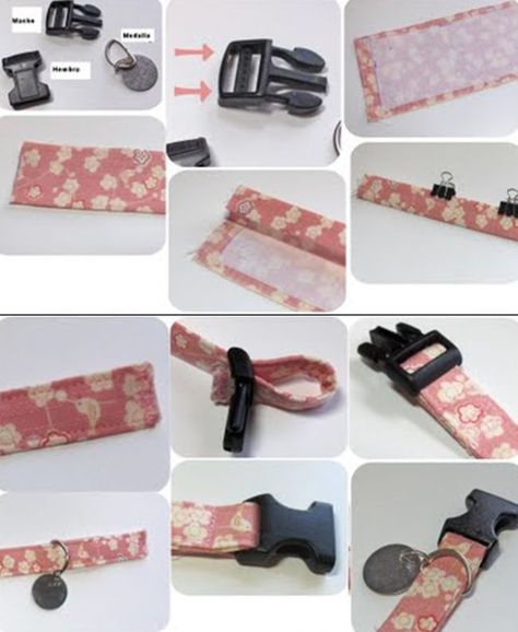 As an Original dog collar we just need a nice fabric to give it a accesorios perros Diy Dog Collar, Cat Collars, Puppy Collars, Dog Crafts, Animal Crafts, Dog Harness, Dog Leash, Dog Clothes Patterns, Dog Items