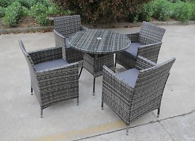 Bistro Garden Rattan Wicker Outdoor Dining Furniture Set Table Chairs 2 4 6 Outdoor Dining Furniture Dining Furniture Sets Glass Round Dining Table