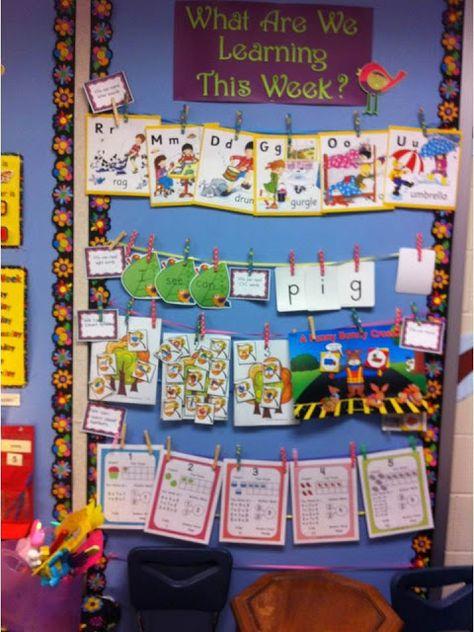 #Kindergarten focus wall for objectives.  #focuswall