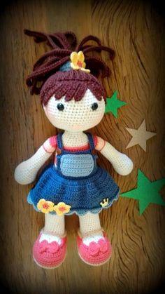 Crochet Doll Pattern Amigurumi Doll Pattern Dolly Crochet Girl ...   419x236