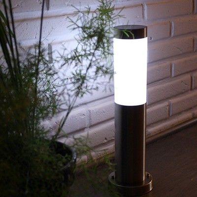 Decouvrez Notre Borne Potelet Solaire Inox Sur La Boutique En Ligne Specialisee Dans L Energie Solaire Solairepratique Led Bahce
