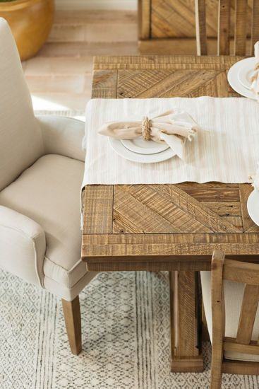 Rectangular Casual 76 Dining Table In Light Brown Em 2020