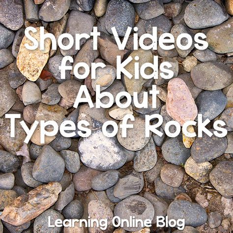Videos for Kids About Types of Rocks Your kids will enjoy learning about types of rocks from these short videos.Your kids will enjoy learning about types of rocks from these short videos. 1st Grade Science, Kindergarten Science, Elementary Science, Science Classroom, Teaching Science, Science Education, Science For Kids, Science Activities, Science Projects