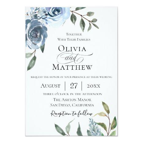Elegant Wildflower Bouquet Wedding Invitation Zazzle Com Minimalist Wedding Invitations Simple Wedding Invitations Wildflower Wedding Bouquet