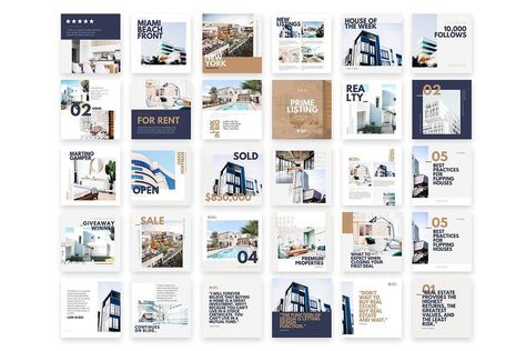 Real Estate Instagram Feed Canva