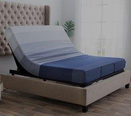 Emerson Queen Beige Bed Bobs Furniture Furniture Adjustable Beds