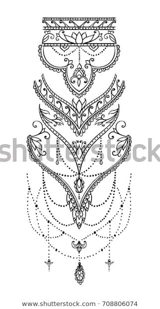 Beautiful mehndi pattern with curls and typical paisley pattern for tattoos . - Beautiful mehndi pattern with curls and typical paisley pattern for tattoos - Irezumi Tattoos, Forearm Tattoos, Body Art Tattoos, Hand Tattoos, Tatoos, Anklet Tattoos, Mandala Tattoo Design, Henna Tattoo Designs, Mehndi Designs