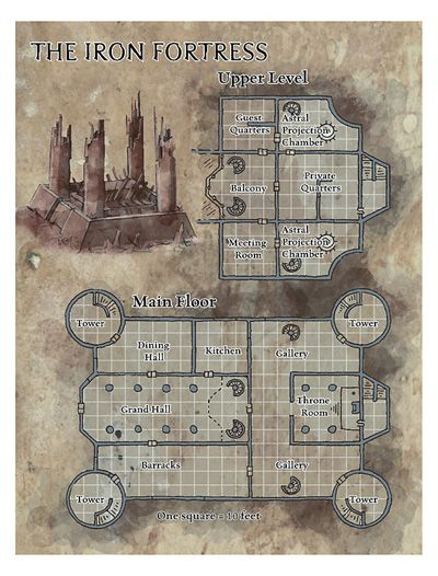 Dnd Fort Map : Castle, Ideas, Fantasy, Dungeon, Maps,, Tabletop