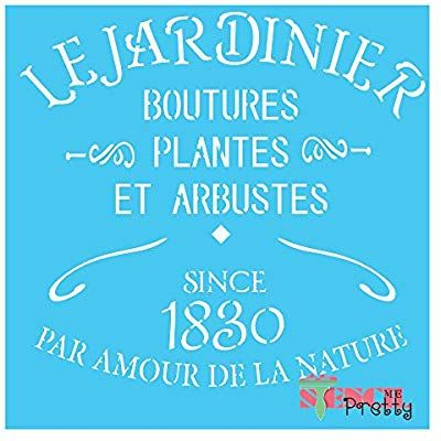 ❤ French Parfumerie Stencil DIY Signage Wall Art Vintage Furniture Chic Template