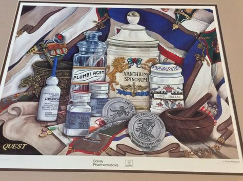 Solvay Pharmaceutical Art Print  Luvox fluvoxamine J Price Wiesman
