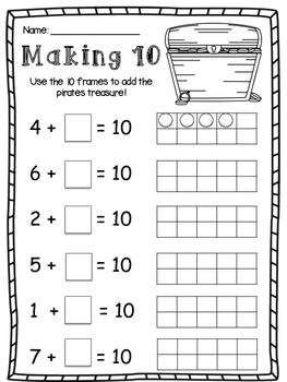 Differentiated Friends Of 10 And Friends Of 5 Making 10 And Making 5 Worksheet Math Activities Preschool First Grade Math Worksheets Kids Math Worksheets Kindergarten math worksheets making 10