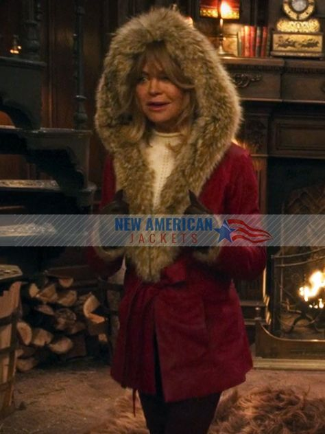 Christmas Chronicles Mrs Claus.The Christmas Chronicles Goldie Hawn Shearling Coat