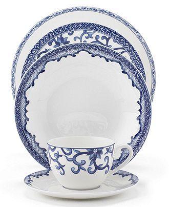 Lauren Ralph Dinnerware Mandarin Blue 5 Piece Place