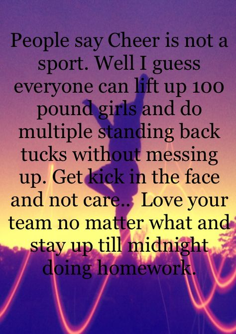 Cheer is a sport!! | Cheer qoutes, Funny cheer quotes, Cheer ...