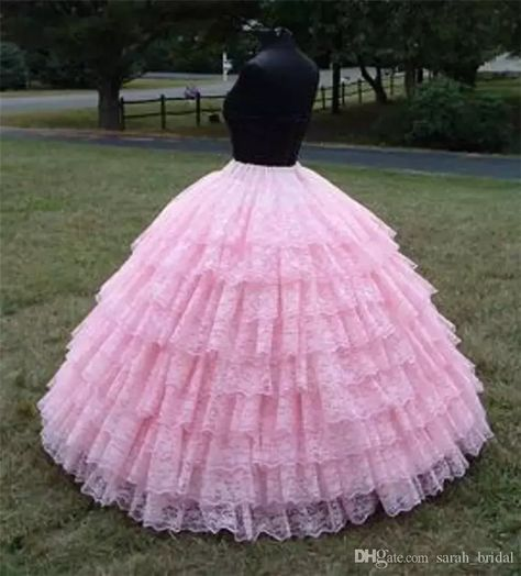 Princess Pink 9 Layers Vintage Lace Petticoat 2016 Ball Gown Wedding Crinoline Petticoat For Gilrs Women Formal Evening Party Prom Petticoat Lace Petticaot Bal