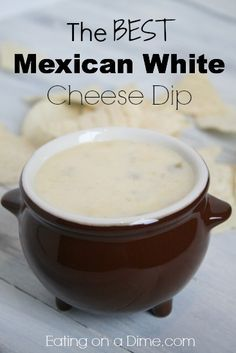 The BEST Mexican White Cheese Dip recipe! This recipe is very kid friendly and will be a nice surprise to your family gatherings. Perfect for a party or game day!