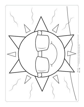 Weather Coloring Pages for Kids - itsybitsyfun.com  Summer