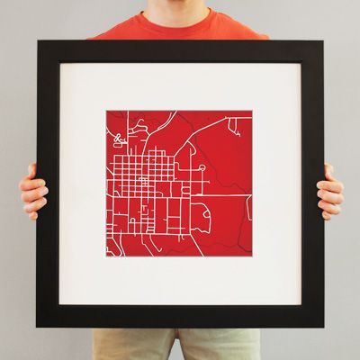 Miami University | City Prints Map Art. Pretty cool idea.