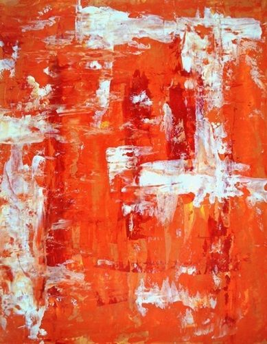 Orange Abstract Art Red And Orange Abstract Art Painting Wall Art From T Modern Art Paintings Abstract Abstract Art Painting Original Abstract Art Painting