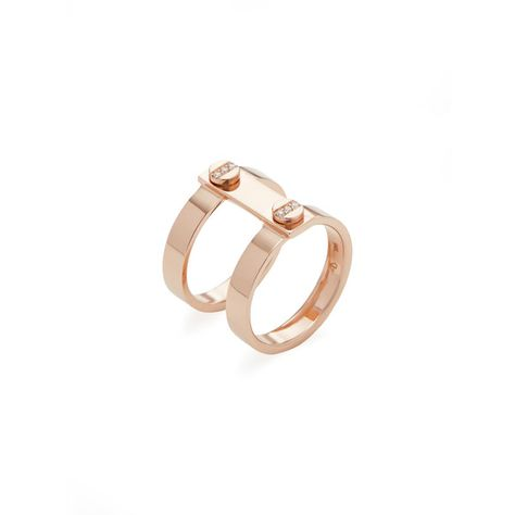 Carbon Hyde Rose Gold Nailed Ring 1 100 Liked On Polyvore