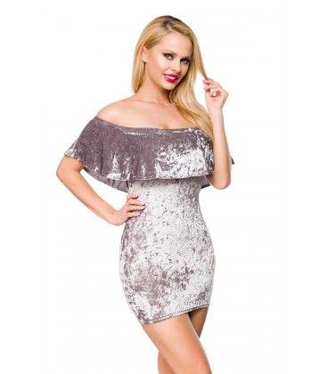 Samtkleid Grau At15096 Kleider Damen Samtkleid Und Kleider