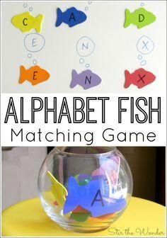 Alphabet Fish Matching Game Stir The Wonder Ocean Theme Preschool Preschool Units Ocean Activities Preschool