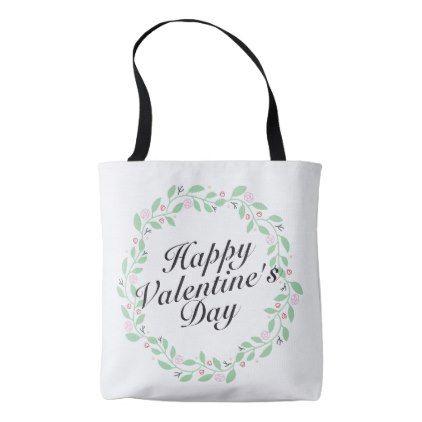 Simple Happy Valentine S Day Floral Tote Bag Zazzle Com