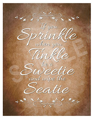 Bathroom Wall Picture If You Sprinkle When You Tinkle Bro Https Www Amazon Co Uk Dp B07b4gyfmn Re Pictures For Bathroom Walls Brown Wall Art Poster Prints