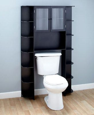 Over The Toilet Bath Storage Shelf Cabinet Space Saver Bathroom Organizer Wood Ebay In 2020 Shelves Over Toilet Bathroom Storage Shelves Over The Toilet Cabinet