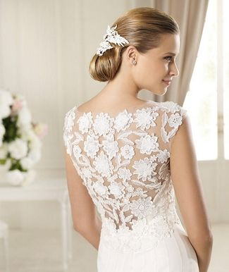Lace Back and Keyhole Wedding Dresses 2013 | Confetti Daydreams - 2013 Pronovias Manuel Mota Wedding Gown Collection