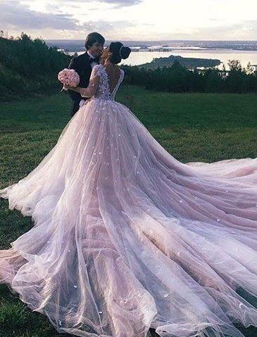 Hochzeitskleider prinzessin lange schleppe