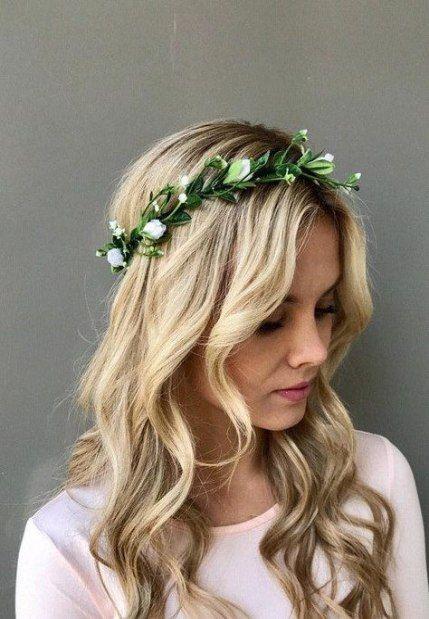 Super Flowers Crown Wedding Simple 54 Ideas Wedding Hair Wreath Flower Wreath Hair Floral Crown Wedding