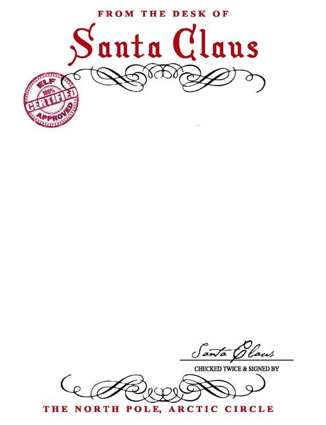 The surprising Santa Claus Letterhead. Will Bring Lots Of Joy To Children With Santa Letter Template Word photograph below, is … Santa Letter Printable, Letter Template Word, Letter Templates Free, Letter From Santa Template, Christmas Letter Template, Paper Templates, Tree Templates, Stationery Templates, Santas Vintage