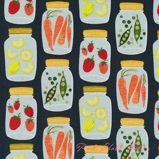 Cute apron fabric!  Mason Jars from 1canoe2  by Beth Snyder