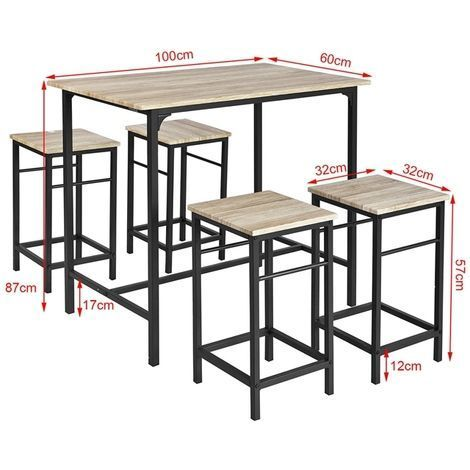 Set Of 1 Table 4 Stools Set Table Of Bar With