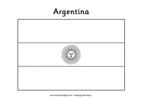 Argentina Flag Colouring Page Colorir Educacao
