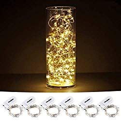 GDEALER 8 Pack 7.2 Feet 20 Led Battery Operated Fairy Lights Mini Copper Wire...