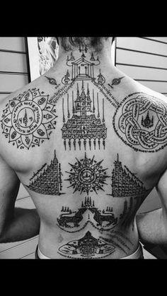Muay Thai Tattoo symbols and meanings Sak Yant [tatouage Yantra] tatouage thaïlandais