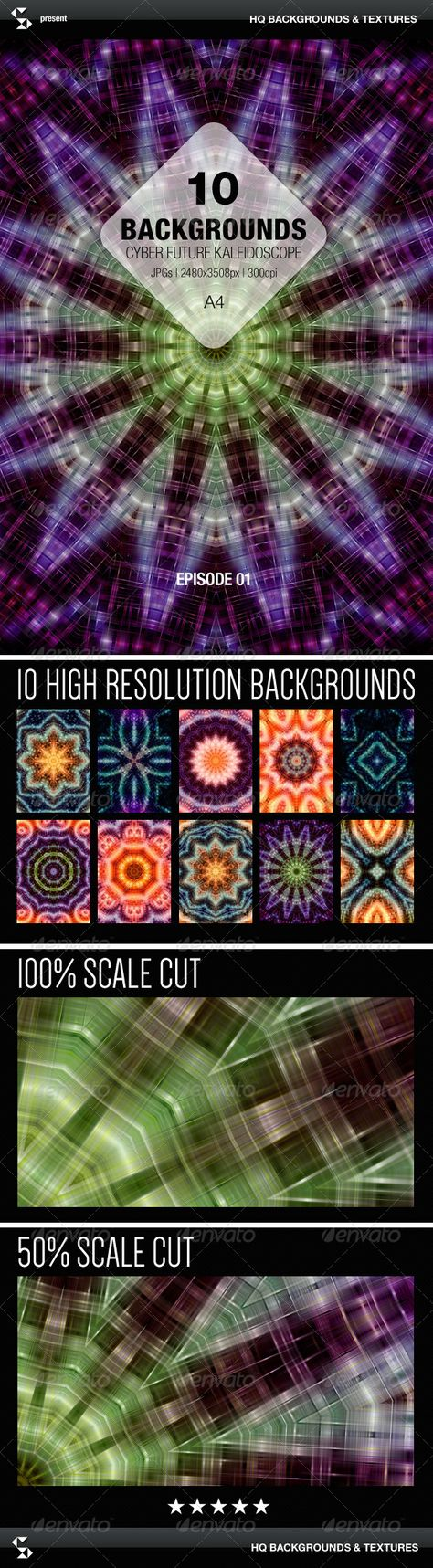 Cyber Future Kaleidoscope Backgrounds - Episode 01