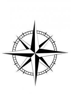 nice Geometric Tattoo - compass star template - Google Search...