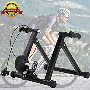 Dkeli Bike Trainer Stand Magnetic Exercise Cycling Indoor Stationary Bicycle Trainer Stand For Indoor Riding 5 Levels Resistance Portable Road Bike Trainer Mac In 2020 Bike Trainer Bike Bicycle Trainers