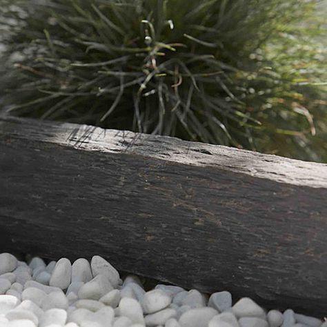 Une Bordure Ardoise 50 X 10 Cm Castorama Et Gros Gravier Blanc Pour Creer Une Bordure Contrastee Bordure Ardoise Bordure Jardin Bordure