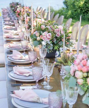 Tablescape Goals Amsisphotography Tablescape Tablescapes Photography Pink Oceanside T Wedding Table Wedding Table Settings Wedding Decorations