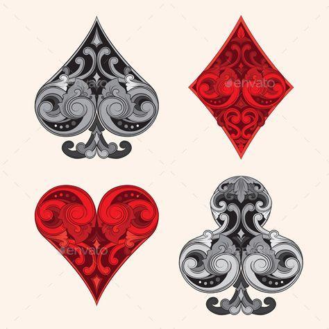 Playing Card Vintage Ornamental by alitsuarnegara Playing Card Vintage Ornamental Vector:- 100 vector- .jpg pxl)IMPORTANT visit my portfol