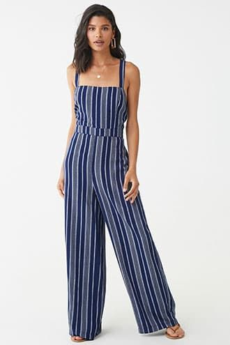 Stylized Striped Jumpsuit Forever 21 Looks Plus Size