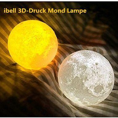 Coole 3d Luna Mondlampe Fur Den Schreibtisch Mond Lampe Lampen Nachtleuchte